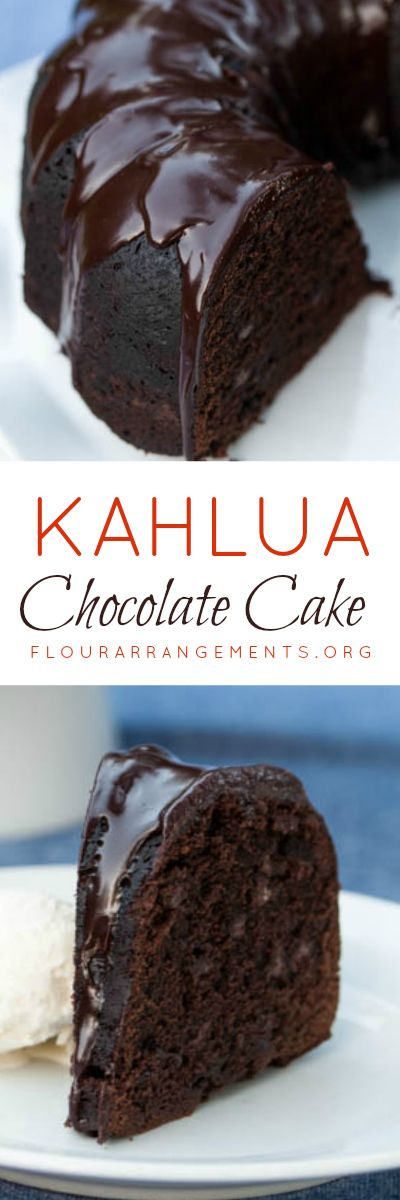 Kahlua Chocolate Cake delivers rich chocolate flavor with warm Kahlua undertones. Two recipes included