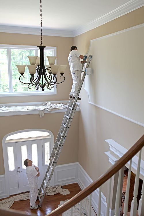 Benjamin Moore – Lenox Tan Paint Color – our family room paint color! changes color so drastically natural