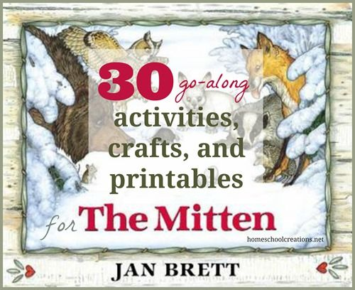 Books by Jan Brett have been huge favorites in our house, especially her story The Mitten. The illustratio