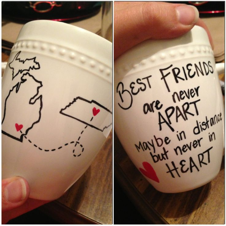 """Best friends"" mug. I'd like to makr something like this for my mom, but obviously instead of best fri"