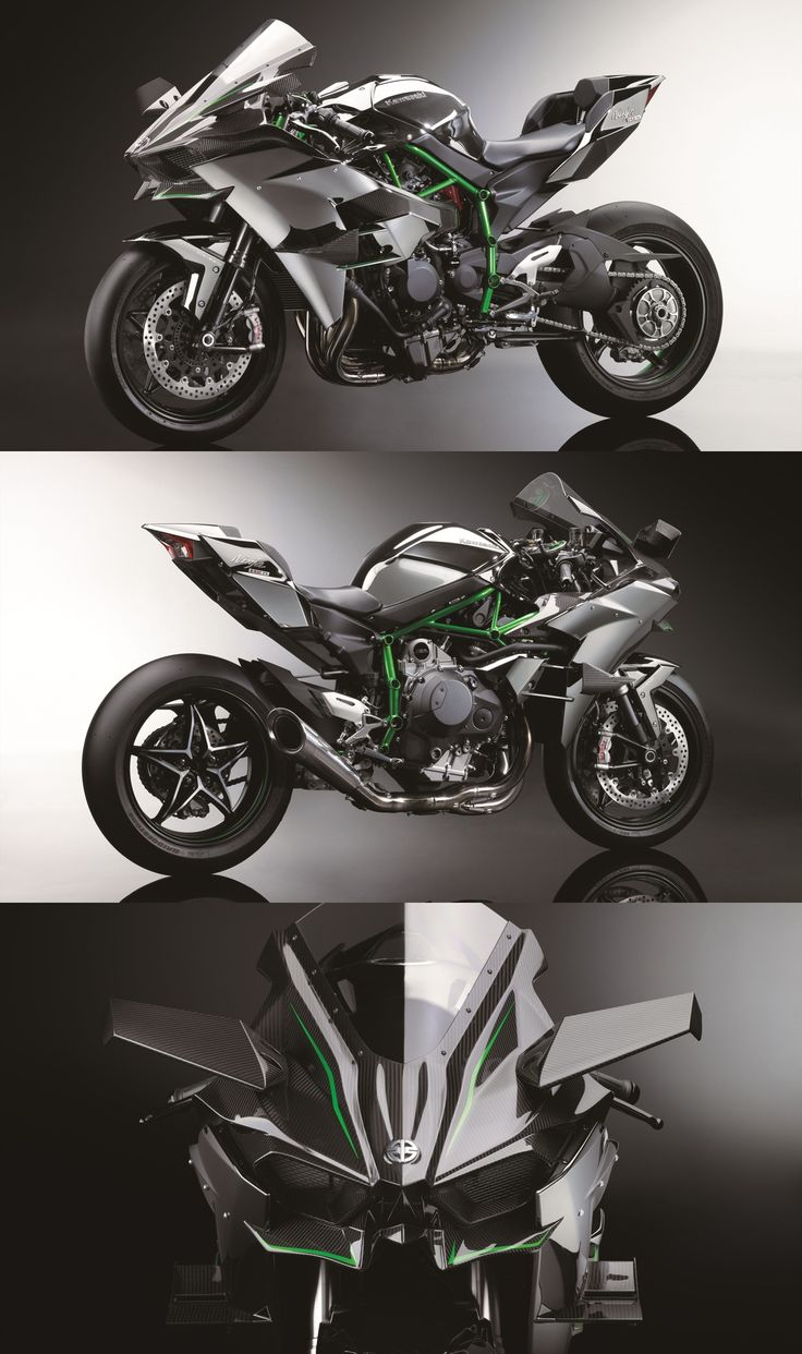 Kawasaki Ninja H2R – With 300hp from a supercharged engine, its so fast it needs wings.