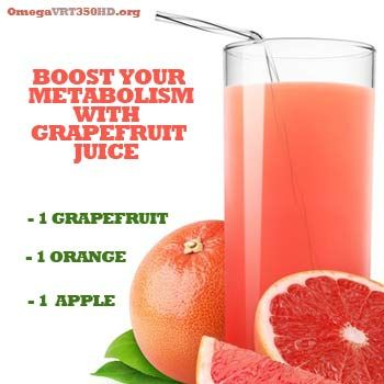 Boost Your Metabolism with Grapefruit Juice! For this and other metabolism boosting juice recipes visit: i