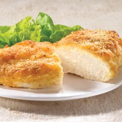 Parmesan Crusted Chicken:  1/2 cup mayonnaise  1/4 cup grated Parmesan cheese  4 boneless, skinless chicke
