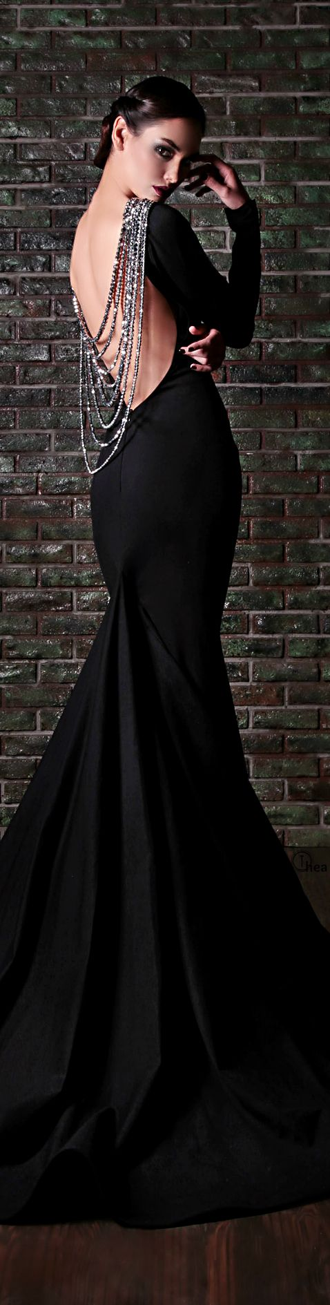 13 Most Beautiful Long Black Dresses From RAMI KADI, click to see all–I'll wear this one when you're supe