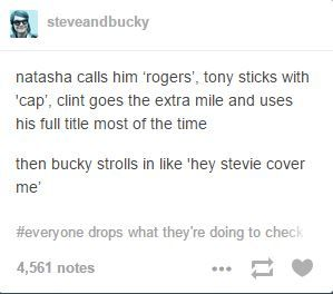 It really is sad though that most people, except for Sam and now Bucky, never refer to Steve by his na