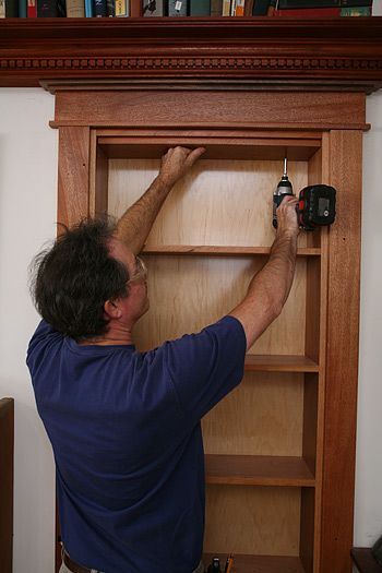 How to install a hidden pivot bookcase. And here I thought only millionaires could have these …