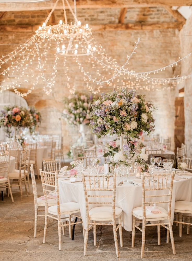 Hanging Fairy Light Canopy | Almonry Barn South West Wedding Venue | Romantic Wedding Decor | Pink Col
