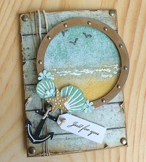 handmade card from the WOW! Embossing Powder Blog: Lifes A Beach … porthole…