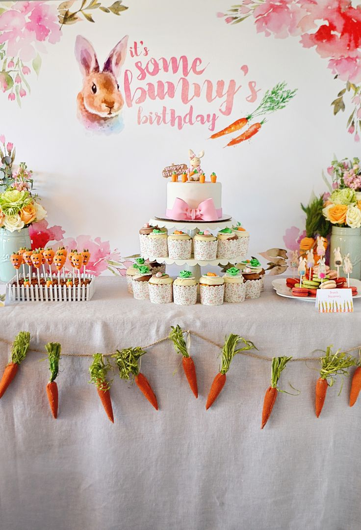 Bunny-Themed Birthday Party – cute ideas for a spring kids party!