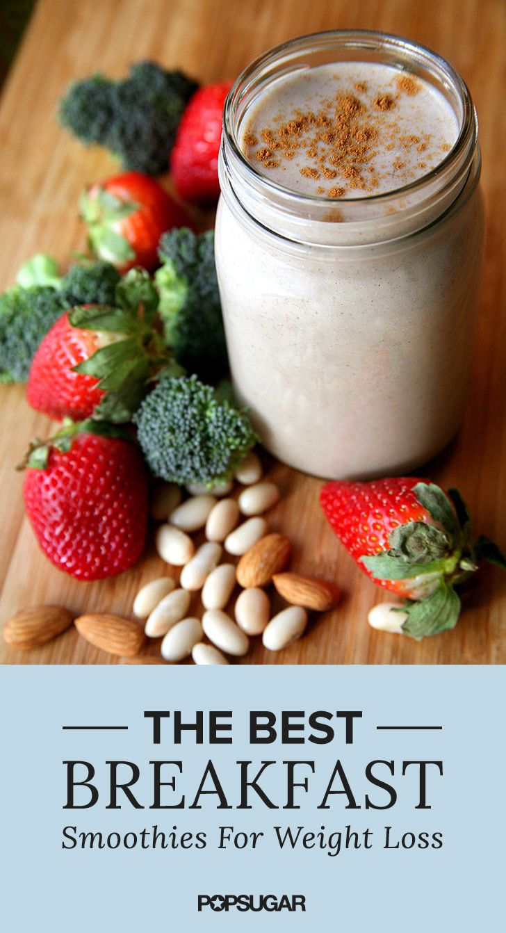 One of these breakfast smoothies every day = weight-loss success! Start blending and start seeing resu
