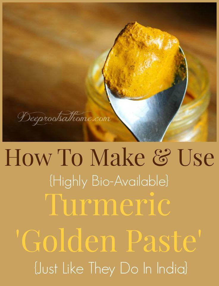 How To Make {& Use} Turmeric Golden Paste – Deep Roots at Home