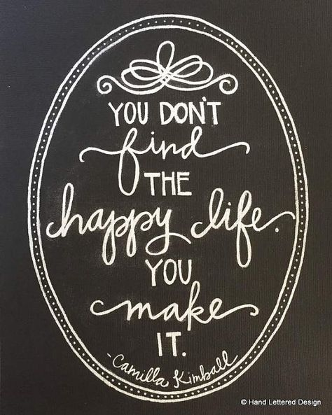"""""""You dont find the happy life. You make it"""" The Happy Life Motivational Print Hand by H"""