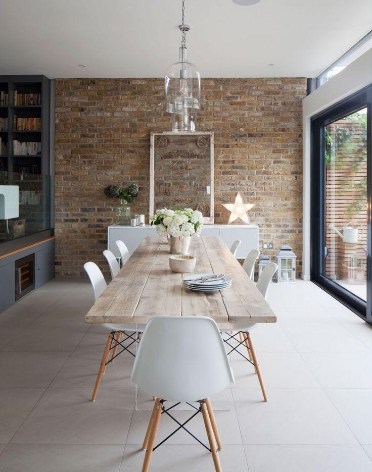 Loft Ideas: love the brick wall!