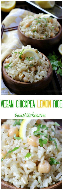 Vegan Chickpea Lemon Rice