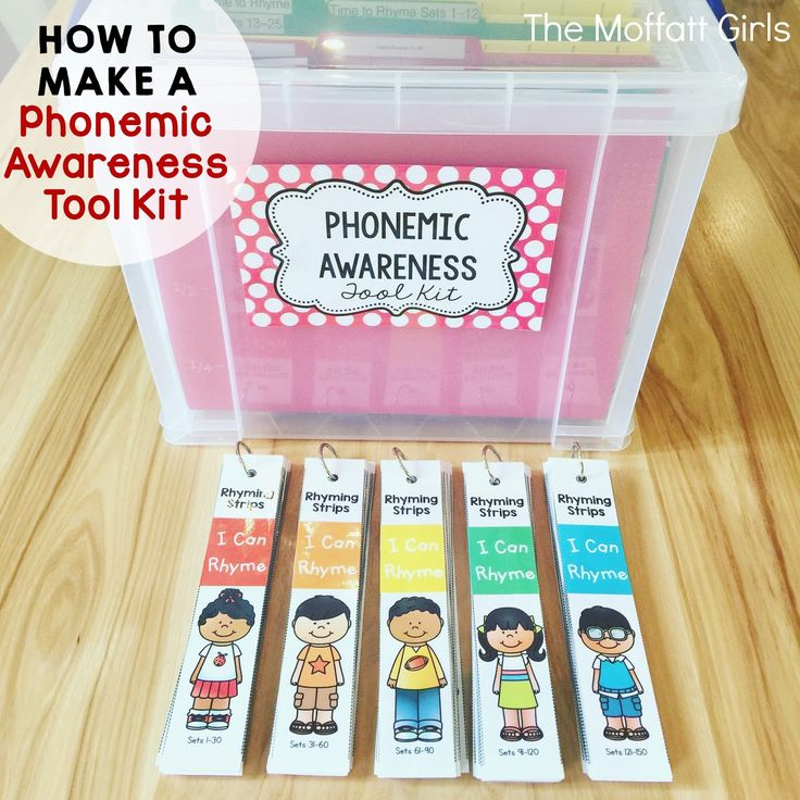 How to Make a Phonemic Awareness Tool Kit. Keeping materials organized is key for managing a successfu