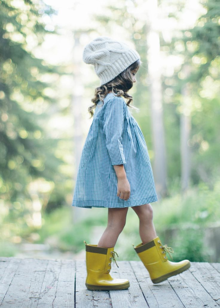 """Grace… I think you should…"" ""No. I like my yellow boots"" (baby Grace) — by M"