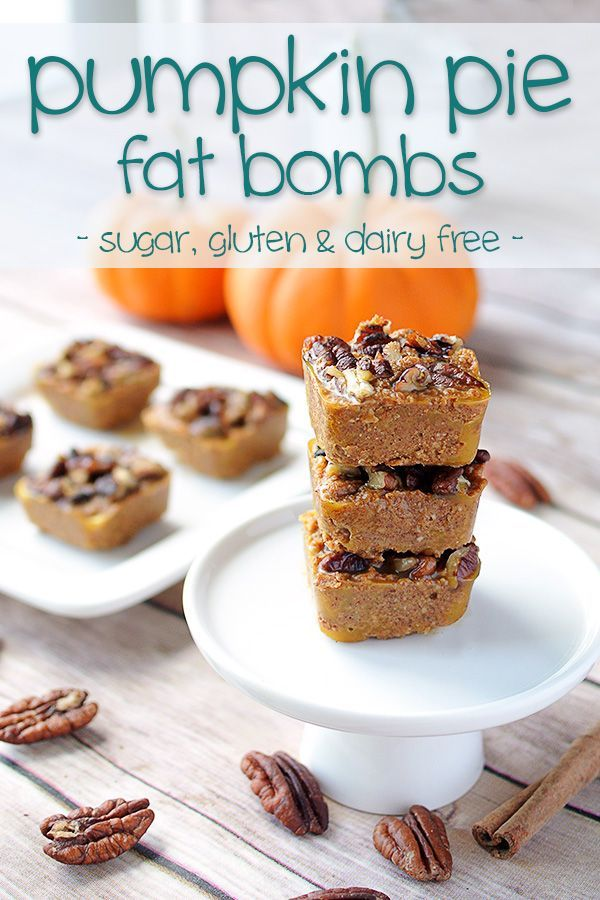 Pumpkin Pie Bites – Low Carb & Dairy Free Fat Bombs that will remind you of fall no matter what month