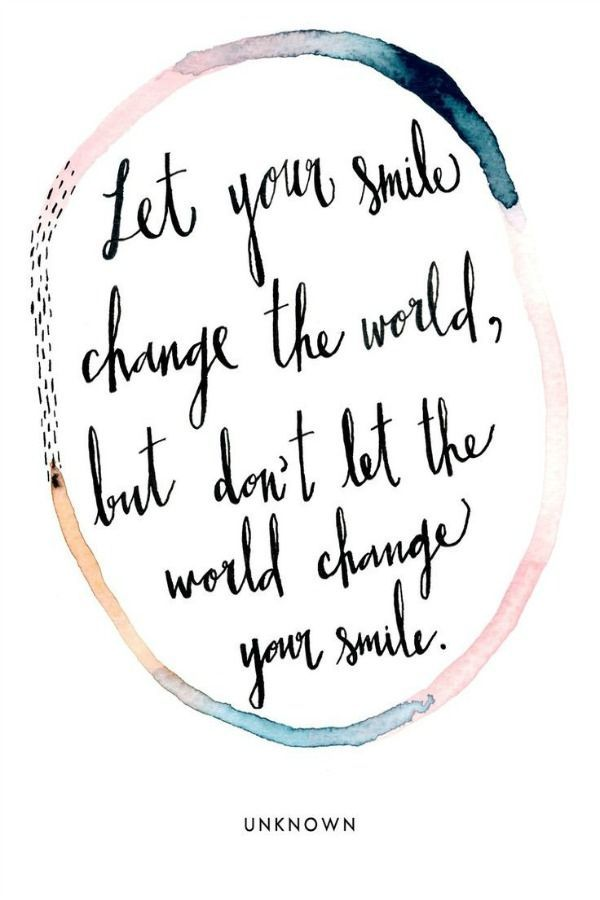 Let your smile change the world, but dont let the world change your smile. Sis. Shara McKee spoke