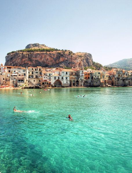 The beautiful town of Cefalù located in Sicily, Italy. For the best of art, food, culture, travel, he