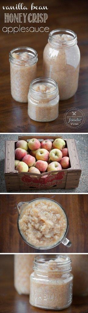 This Vanilla Bean Honeycrisp Applesauce recipe is so delicious, it will knock your socks off. Plus its