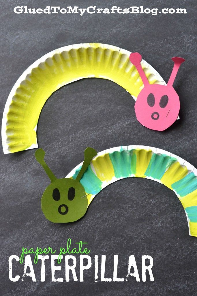 Paper Plate Caterpillar {Kid Craft} – I want to make a bunch of little ones and make mobiles!