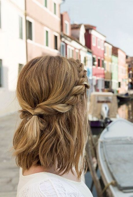 Brides.com: . If you have some dry shampoo lying around, you can pull off this aisle-worthy half-updo