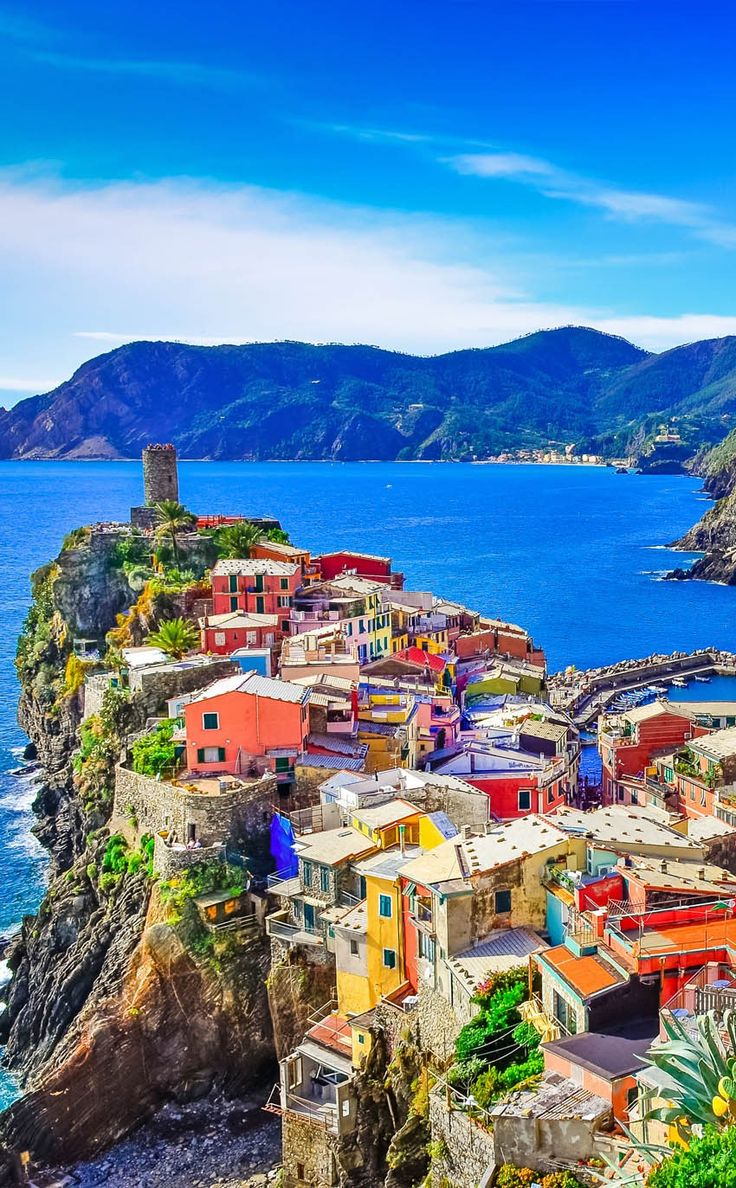 Amazing View of colorful village Vernazza in Cinque Terre IT IS on…
