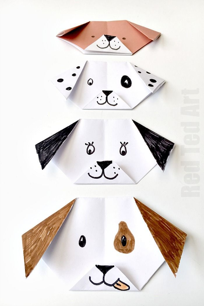 Easy Origami Dog for kids – adorable. Turn it your favourite breed. You can…