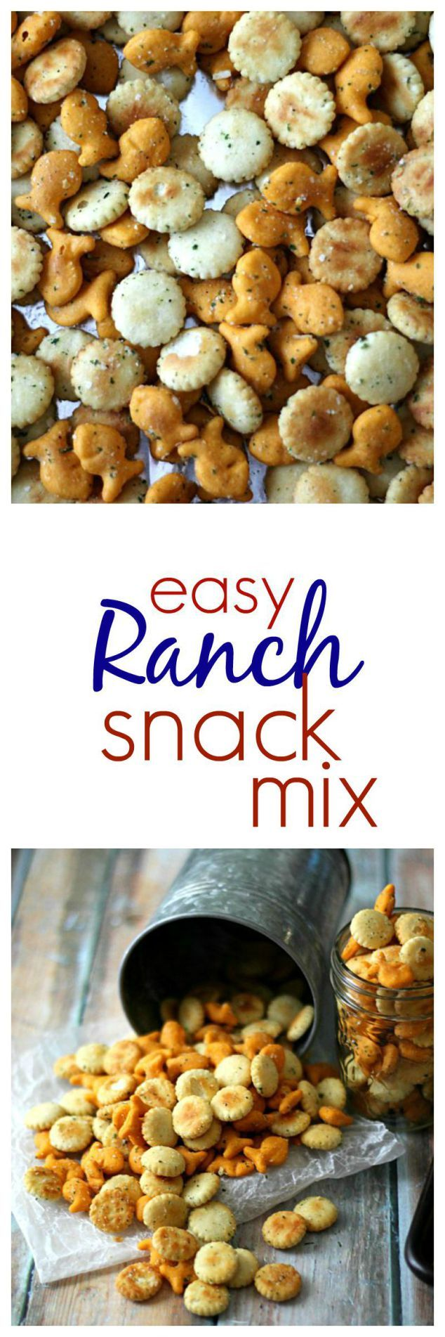 Easy Ranch Snack Mix–perfect for traveling too!