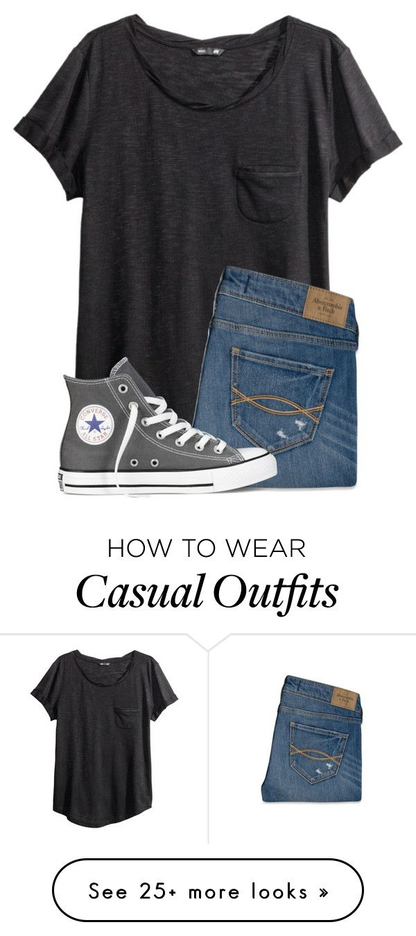 """Casual Outfit"" by twaayy on Polyvore featuring H&M, Abercrombie & Fitch and Convers"