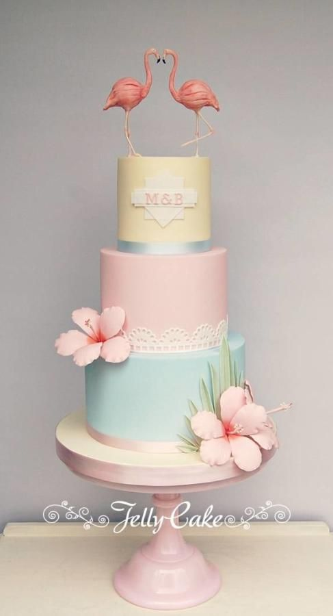 American Riviera Wedding Cake by JellyCake – Trudy Mitchell…
