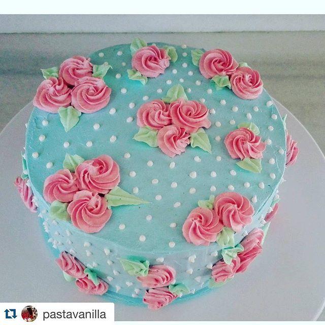 vintage shabby chic pastel cake