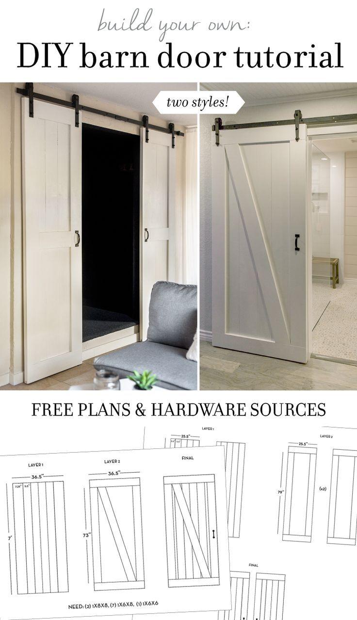 DIY Barn Door Plans & Tutorial   Jenna Sue Design Blog
