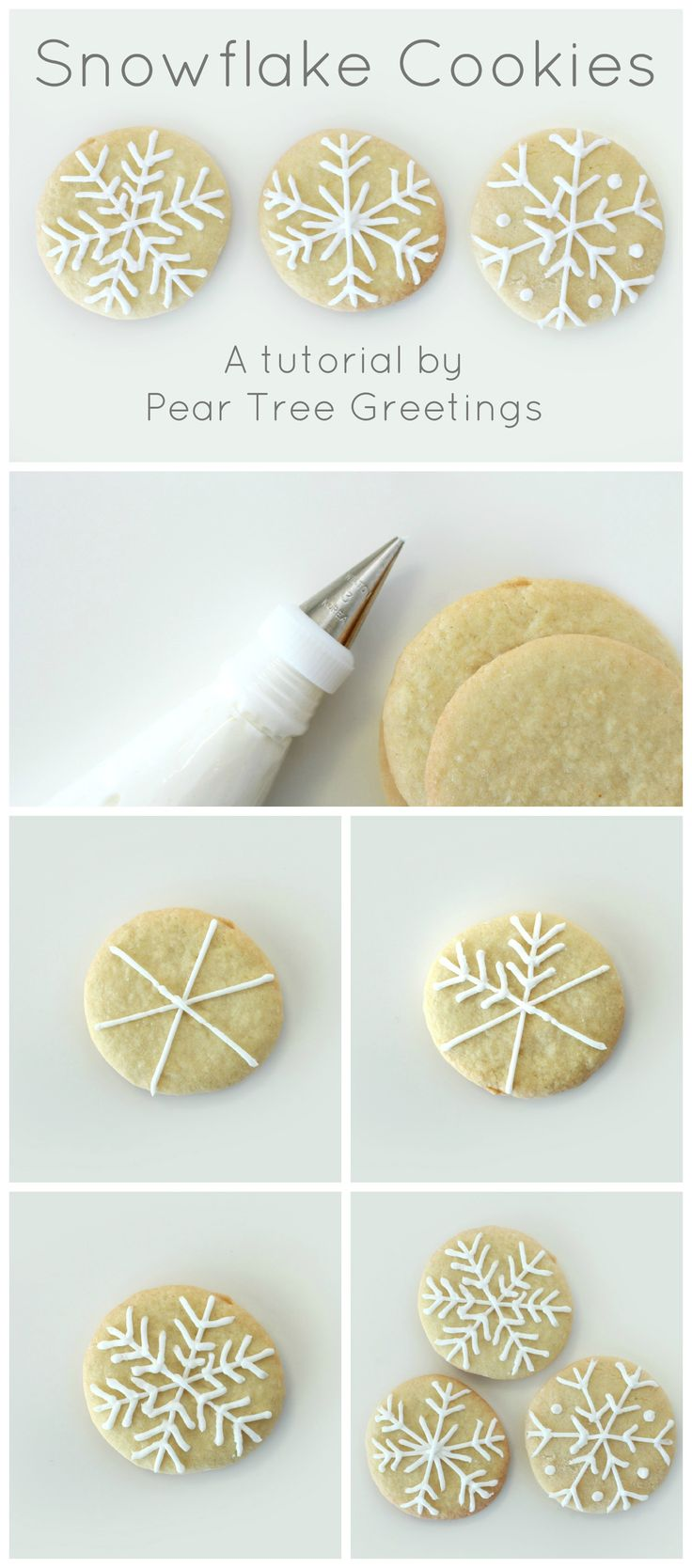 Learn how to make a these snowflake Christmas cookies that are sure to impress you