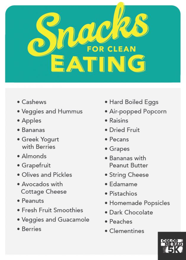 Snacks for clean eating.