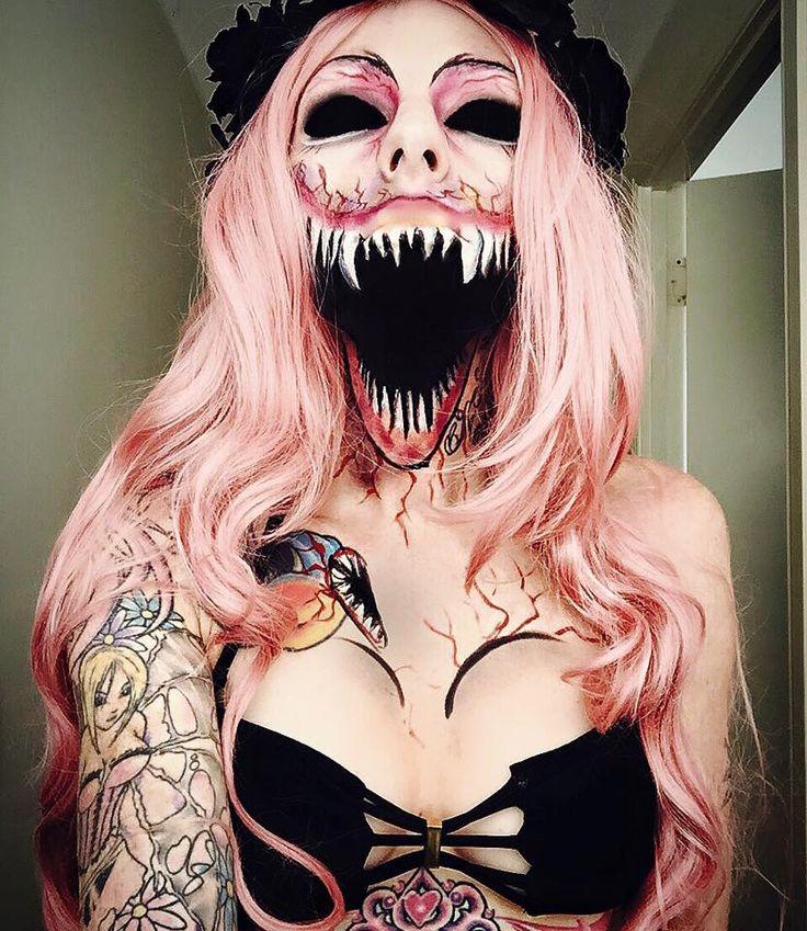Awesome halloween makeup by Sarah Mudle – Imgur