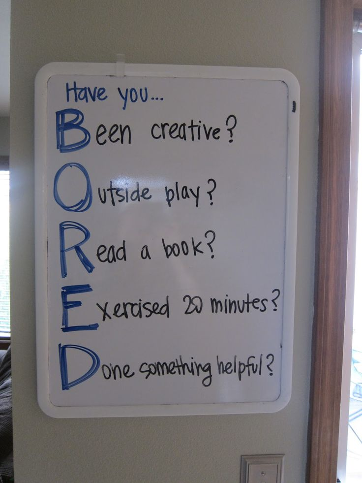 A great reminder of what to do when youre BORED. Have you… Been creative? O