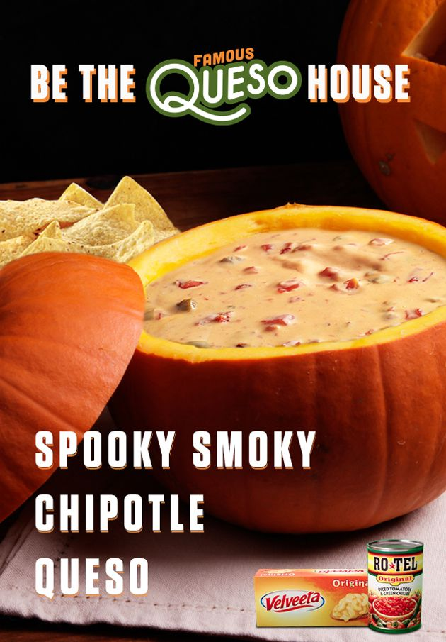 This delicious Spooky Smoky Chipotle Queso dip will turn a boring house into a tas