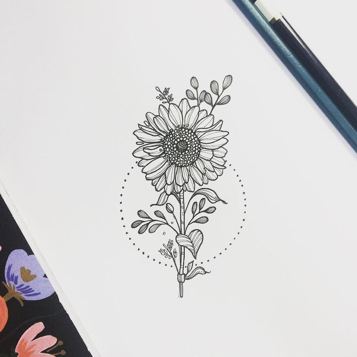 See this Instagram photo by @Nathaly Bonilla sunflower sunflowertattoo tattoo line