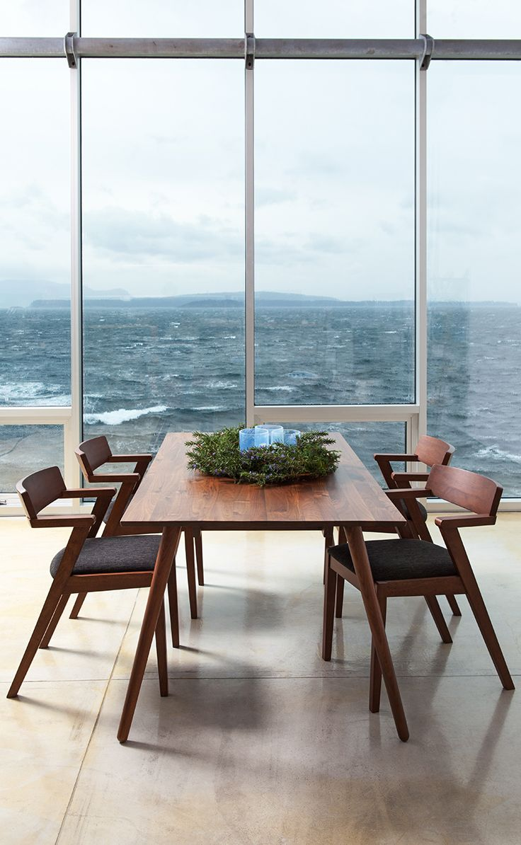 Room with a view. SENO dining table + ZOLA chairs