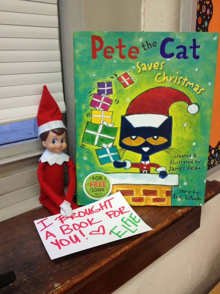 Elf on the Shelf brings a book  (This one is already planned! He is going to be ha
