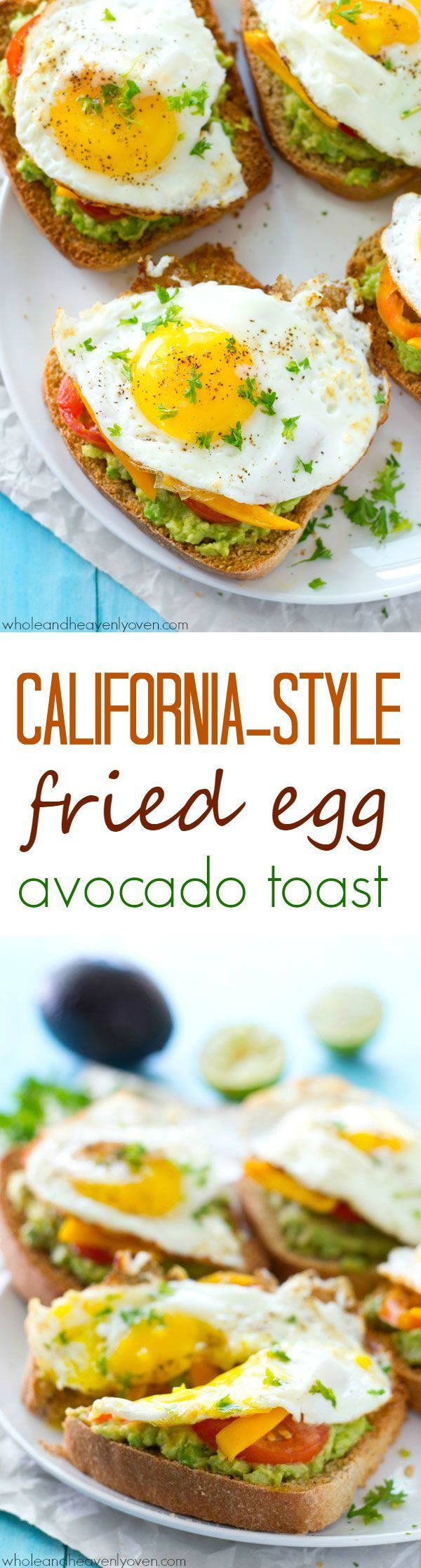 Avocado toast is given a fun California-style twist! This ultimate breakfast toast