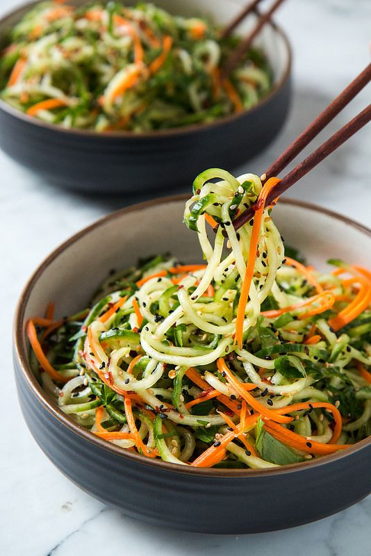 Asian Sesame Cucumber Salad | I am a huge fan of eating veggies just as they are,