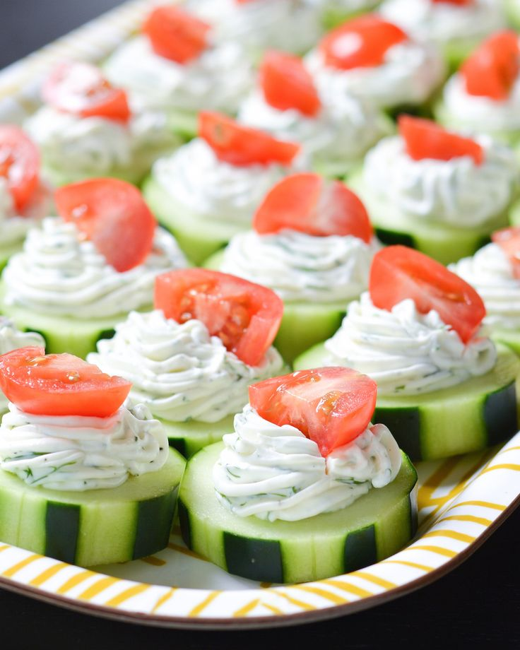 These fresh Dilly Cucumber Bites make a great healthy appetizer. Cucumber slices a