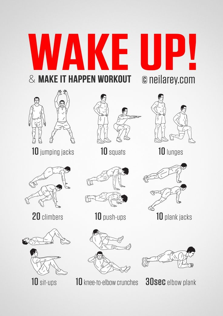 No-equipment body-weight workout for starting your morning on a high. Infamous Wak