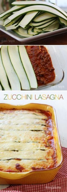 Gluten Free Low Carb Zucchini Lasagna – probably one of the few easy recipes i may