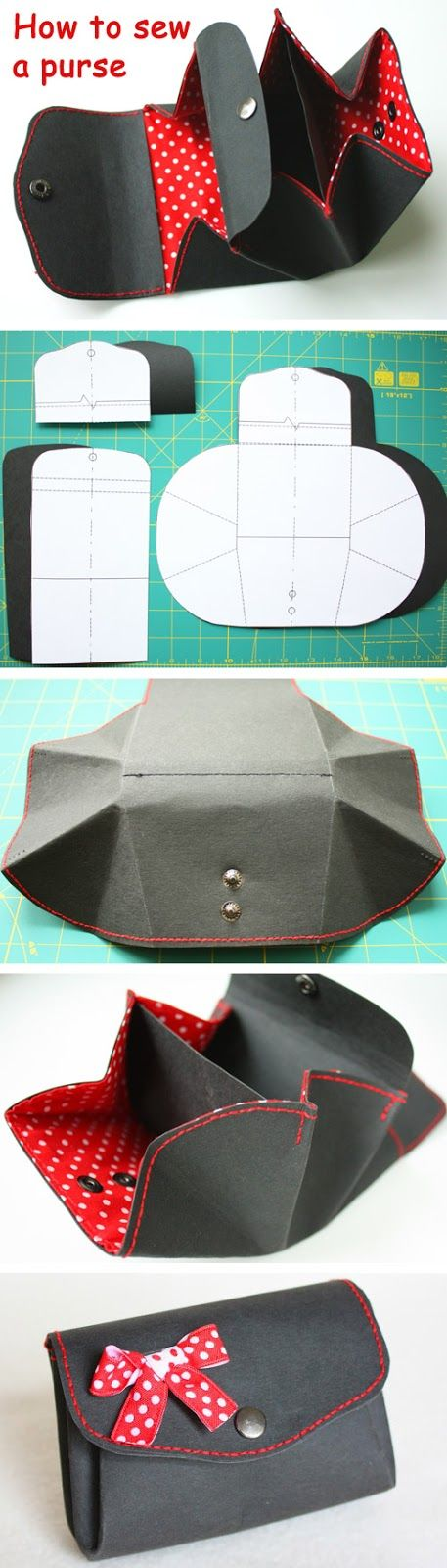 Coin purse made from Kraft-Tex paper. DIY tutorial in pictures.  www.handmadiya.co