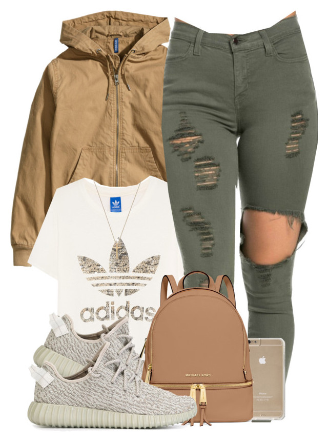"""Untitled #531"" by b-elkstone ❤ liked on Polyvore featuring H&M, adidas Original"