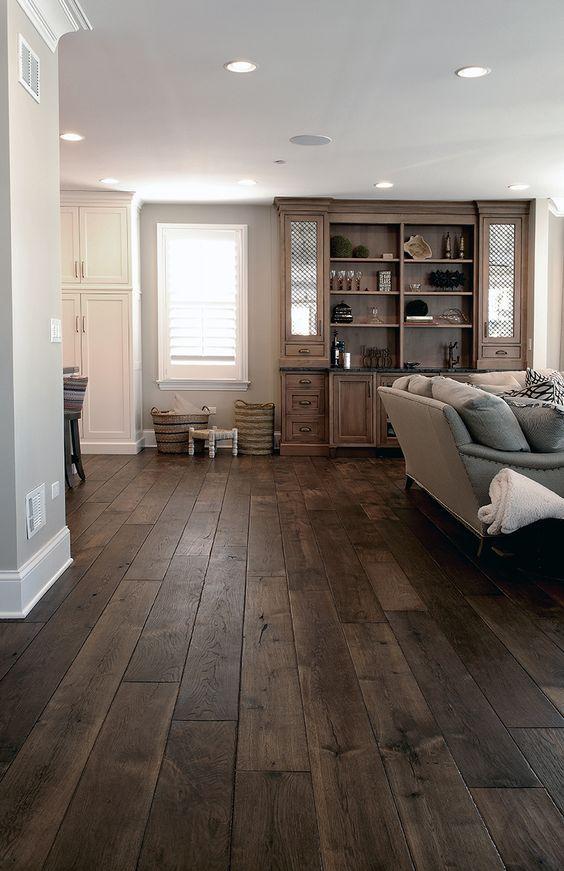 Wide Plank Hardwood Floor, Dark Wood Floor, Dark Grey Wood Floor, Diy Hardwood…