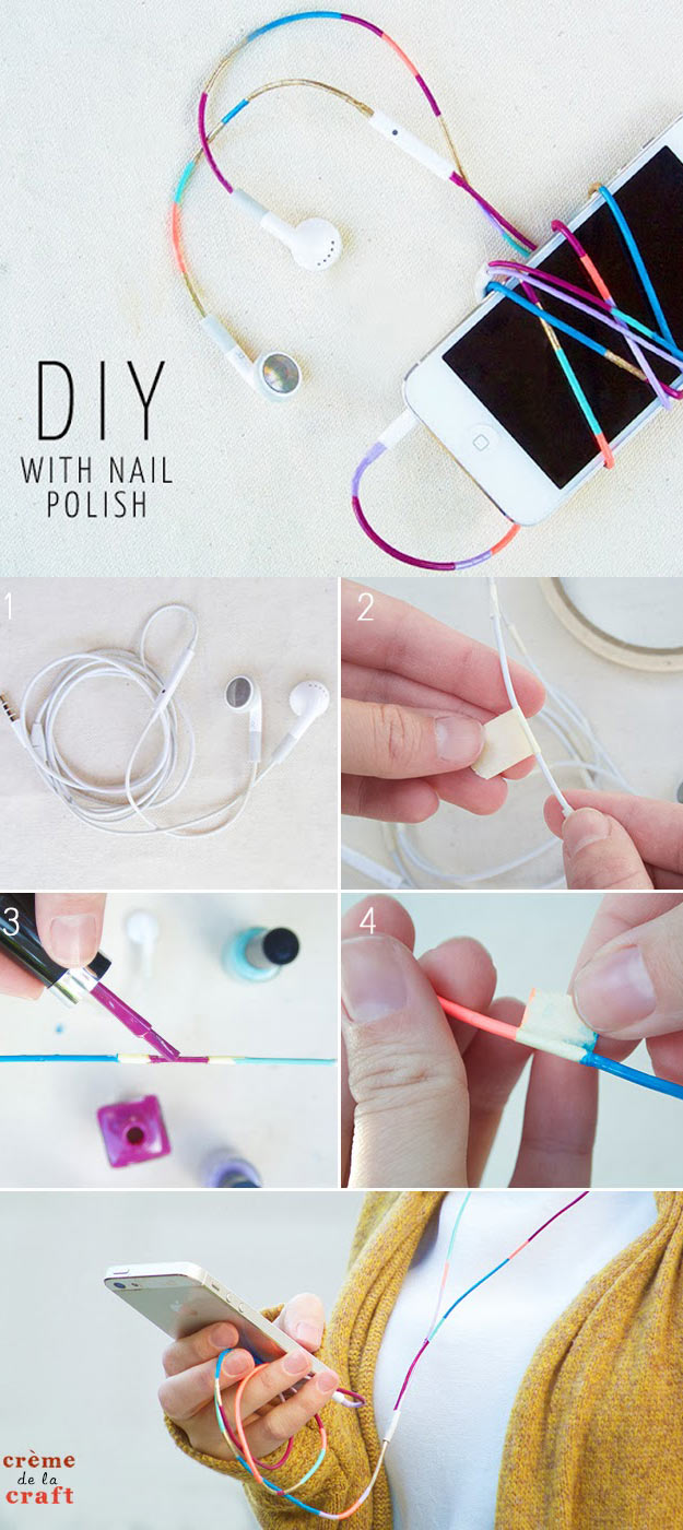 DIY Crafts Using Nail Polish – Fun, Cool, Easy and Cheap Craft Ideas for Girls, Te